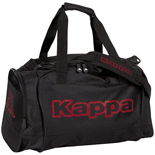 Kappa TOMAR Sport-Tasche schwarz I Trainings-Tasche mit Trockenfach & Schuhfach I für Männer & Frauen, Größe  60cm x 30cm x 39cm