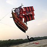 Cometa, Cometa Niños Cometas for niños fácil de Volar al Aire Libre con 3D Barco Pirata con Las Colas de Cometa fácil de Volar (Color: Rojo) YCLIN ( Color : Red )