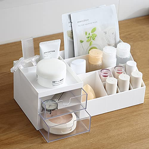 Faffooz Organizzatore di Trucco con Cassetti Makeup Organizer Scatola Porta Cosmetici Porta trucchi in plastica Organizer per Accessori Trucchi Cosmetici per trucco per cassettier