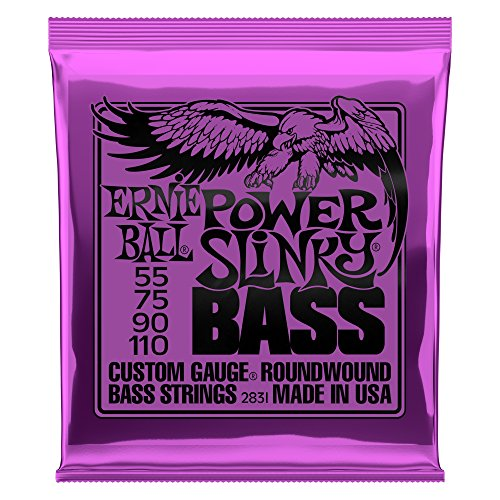 Cuerdas para bajo eléctrico Ernie Ball Power Slinky Nickel Wound - 55-110 Calibre