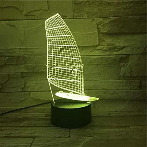 Luz nocturna para niños con interruptor táctil, lámpara de mesa para salón novedad acrílico 3D luz nocturna para habitación infantil 7 cambios de color 3D lámpara de escritorio regalo para niños