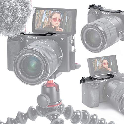 Support de Fixation de Microphone pour caméra de relocalisation A6400 pour Sony A6400 A6300 Vlog, Adaptateur de Carte d'extension