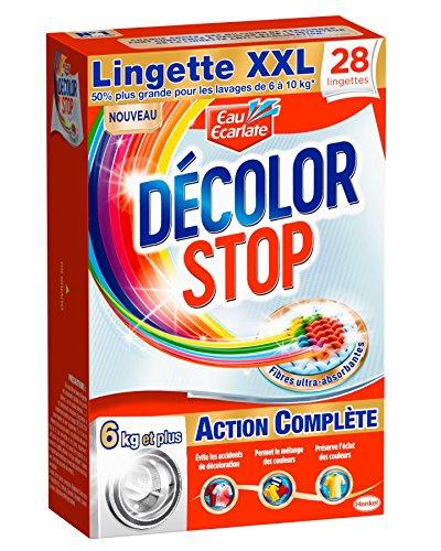 Eau Ecarlate Décolor Stop Action Complète - 28 Lingettes - Taille XXL