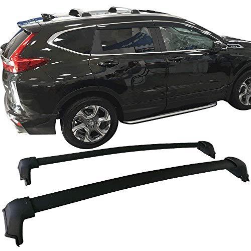 ANTS PART for 2017-2021 Honda CR-V CRV Roof Rack Cross Bars Top Rail Luggage Carrier Pair Set Black(Need Factory Side Rails)