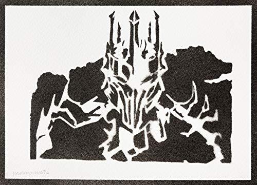 Poster Sauron Il Signore degli Anelli The Lord of the Rings Handmade Graffiti Street Art - Artwork