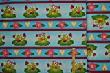 alles-meine.de GmbH 1 m * 1,10 m - Stoff Frosch Baumwolle