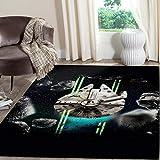 Millennium Falcon Star Wars Rug Non Slip Floor Carpet,Area Rug, Modern Carpet 3x5 4x6 5x8 ft Youset Decoration (5x8ft)