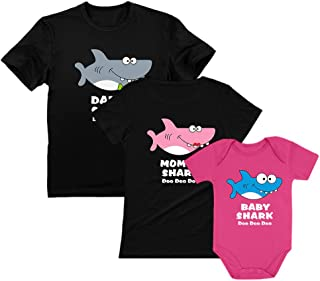 Baby Shark Mommy Shark Daddy Shark Family Set - Gift for Valentines Doo Doo Doo