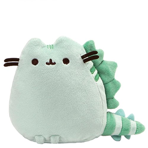 GUND Pusheen Pusheenosaurus Dinosaur Cat Plush Stuffed Animal, Green, 6'