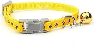 FidgetKute LOT of 6 Adjustable PAW Print PET Dog CAT Collars W/Bell
