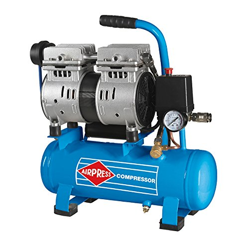 AIRPRESS Druckluft Kompressor | L 6-105 Silent | 8 Bar | 6 Liter | 0,6 PS | 2 Zylinder | Profi