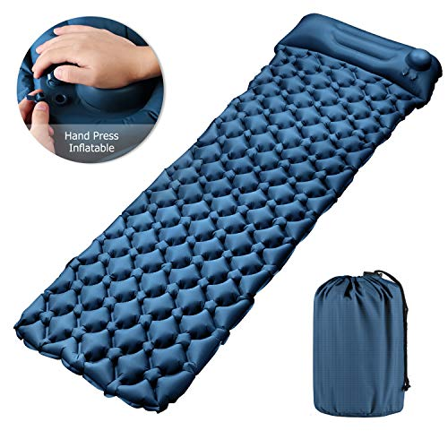 Tobfit Camping Isomatte,Einzelne Schlafmatte Ultraleichte Isomatte für Outdoor,Feuchtigkeitsfes für Wandern,Backpacking,Camping,Strand