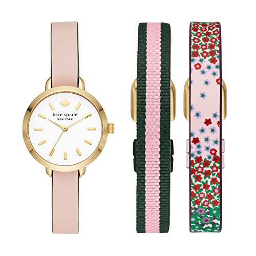 Kate Spade Women's Greene Three-Hand Gold-Tone Stainless Steel Watch ksw1663set
