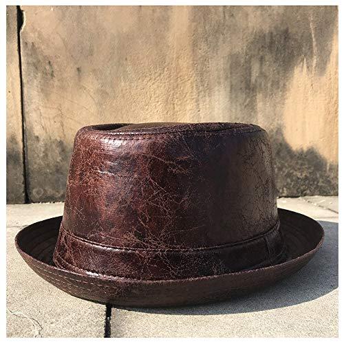 Sombrero de moda Los hombres de la moda Pork Pie pluma del sombrero de Fedora sombrero plano del sombrero de copa for el caballero del sombrero de copa Bowler Gambler Casquillo al aire libre