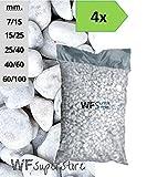 WUEFFE Ciottoli di Marmo Bianco Carrara - 4 Sacchi da 25 kg - Sassi Pietre Giardino (40/60)