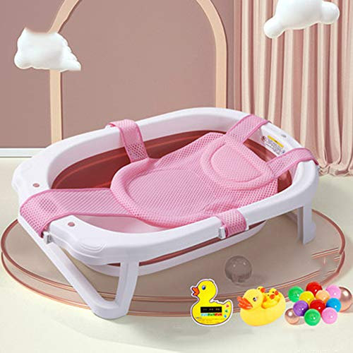 Temperatuurgevoelige babybadje, pasgeboren kunnen zitten en liggen in de badkuip, opvouwbaar en telescopische, draagbare opslag, beschikbaar voor 0-8 jaar oud,E