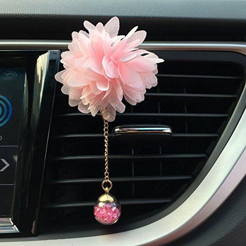 Colorful Auto Lufterfrischer Duftspender Air Outlet duftenden Parfüm Blume Lufterfrischer Diffusor Kamelie Car Loving Gift,Rosa