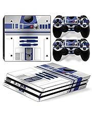 Funky Planet PS4 Pro PlayStation4 Pro designfolie sticker skin set voor console + 2 controllers van (PS4 Pro R2-D2)