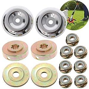 Osuter 8PCS Caja de Engranajes Desbrozadora Metal Accesorios Cabezal de Engranaje Trimmer Piezas de Repuesto para Cortadora de Césped