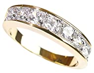 Free Engraving! Ah! Jewellery® 0.34CT Women's Channel Set Half Eternity Ring Band, Crystals From Swa...