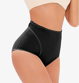 ملابس داخلية عالية الخصر، رافع الأرداف المحسن للورك، سراويل داخلية مبطنة بدون خياطة للنساء (اللون: أسود، المقاس: XXXXXX-La...