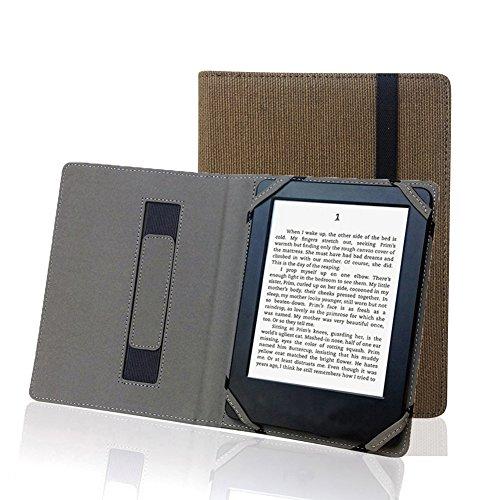 """Enjoy-Unique Copertina in lino naturale per lettori di eBook con schermo da 6"""", custodia in canapa per apparecchi Sony, Kobo, Tolino, Pocketbook"""