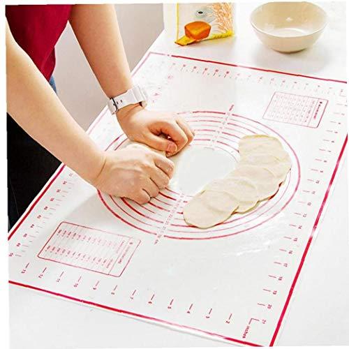 AYRSJCL Silikon-Backen-Matte Non-Aufkleber Teig kneten Pads Pizza Kloßteig Maker Gebäck Rollen Bakeware Liners Pads Kochen Werkzeuge (40 * 60cm)