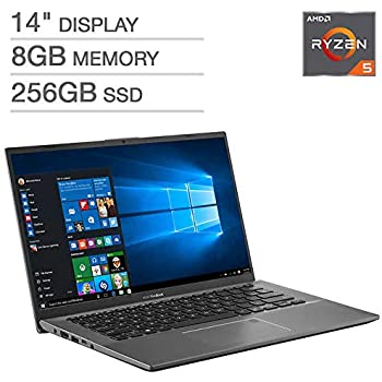 "ASUS VivoBook F412DA 14"" Laptop - AMD Ryzen 5 - 1080p 8GB DDR4 RAM 256GB SATA Solid State Drive Backlit Chiclet Keyboard"