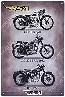 Roovtap Metal Sign Tin Sign Motorcycle Metal For Bar Pub Club Home Decoration Retro Wall Art Gift Iron Plaque Signed Venus...