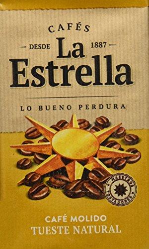 La Estrella - Café Tostado Molido Natural - 4 Paquetes de 250 g