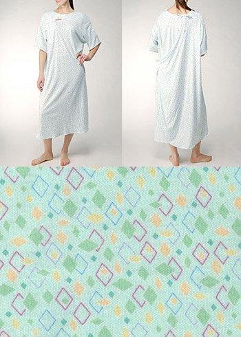 Karen Neuburger 3XL Hospital Gown Tieside Closure - Pack of 3 (Colorful Green)