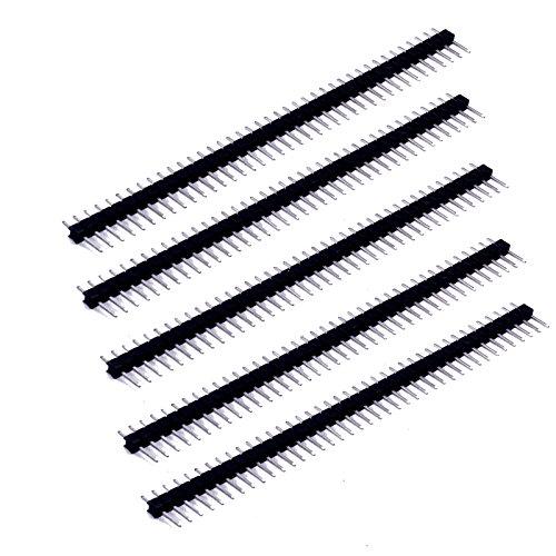 5x Stecker Pin Stiftleiste für Arduino Raspberry Pi und Breadboard Prototyping