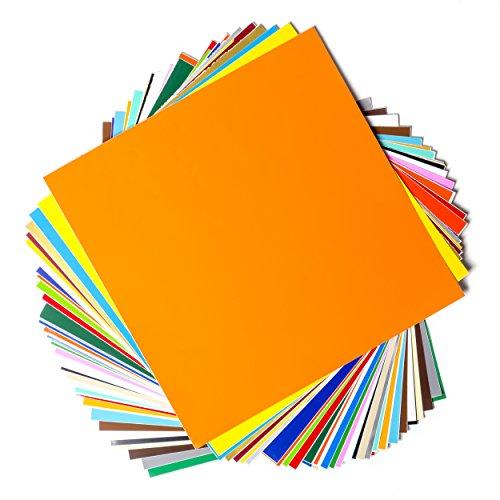 EZ Craft USA Vinylbögen, permanent klebend, 30,5 x 30,5 cm, 40 Blatt, verschiedene Farben, für Cricut und andere Schneidemaschinen geeignet