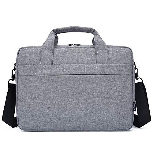 """GUOCU Bolso Bandolera/Maletín para Portátli, Funda Protectora Laptop Sleeve Dura y Impermeable para iPad Pro/Ordenador Notebook/MacBook Air & Pro,Gris,15.6""""(42X32X7cm)"""