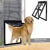 SUCCESS Dog Door for Sliding Screen Door, Magnetic Automatic Lock Pet...