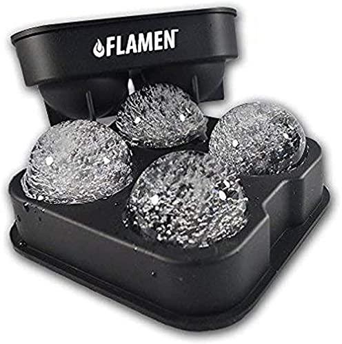 FLAMEN Ice Ball Maker Moule Plateau En Silicone...