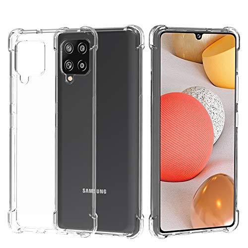 Migeec Funda para Samsung Galaxy A42 5G Suave TPU Gel Carcasa Anti-Choques Anti-Arañazos Protección a Bordes y Cámara Premiun Carcasa para Samsung Galaxy A42 5G - Transparente