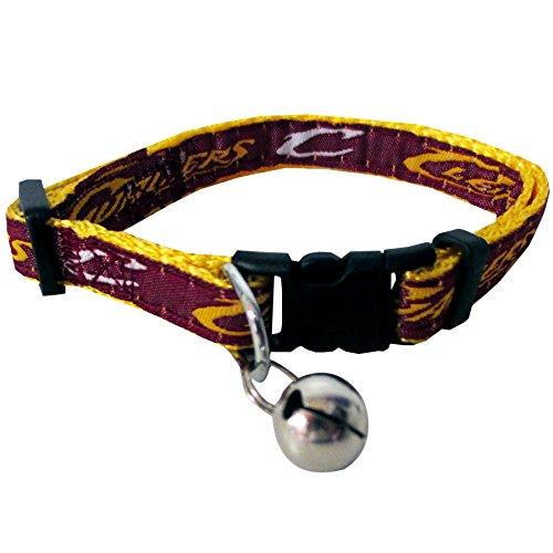 NBA CAT COLLAR. - CLEVELAND CAVALIERS CAT COLLAR. - Strong & Adjustable BASKETBALL Cat Collars with Metal Jingle Bell