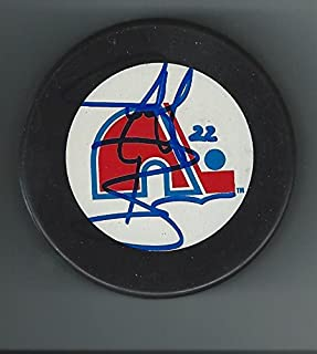 Jeff Brown Signed Puck - Autographed NHL Pucks
