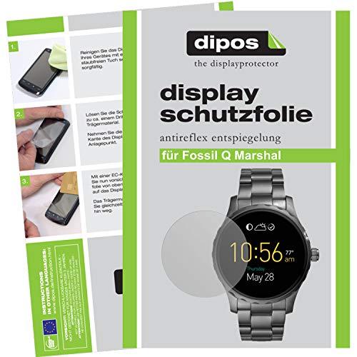 dipos I 6X Schutzfolie matt kompatibel mit Fossil Q Marshal Folie Bildschirmschutzfolie
