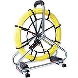 Runpotec Guia Pasacables Profesional de fibra de vidrio Longitud 60 m, diámetro varilla 6 mm, Version Profi-Set con carro metálico. Ref 10063