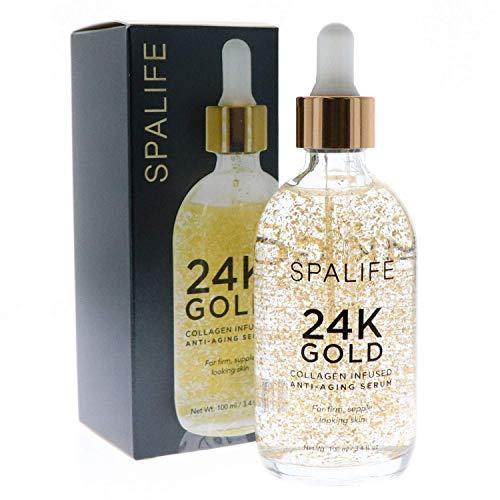 SpaLife Nourishing Anti-Aging Gold & Silver Serums (Anti-Aging 24k Gold & Collagen) 110 ML(3.7 oz)
