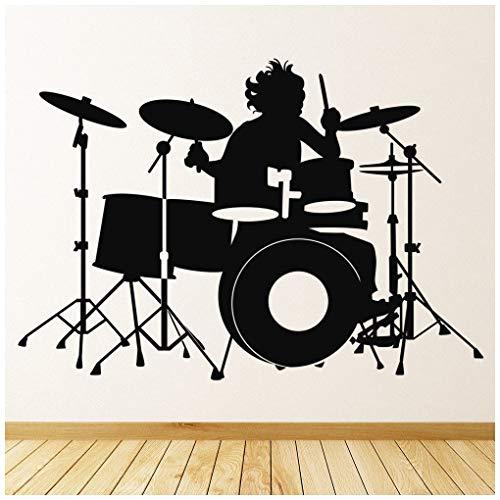 azutura Schlagzeug Wandtattoo Schlagzeuger Musik Wand Sticker Schlafzimmer Kinder Wohnkultur verfügbar in 5 Größen und 25 Farben Mittel Violett