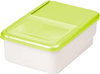 パール金属 日本製 米びつ 5kg グリーン 計量カップ付 システムキッチン用 プリペア H-5820