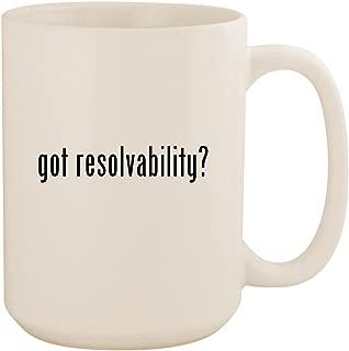 got resolvability? - White 15oz Ceramic Coffee Mug Cup