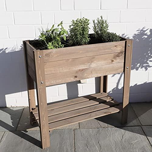 Holz Hochbeet Pflanzkasten Garten Pflanzbeet Gemüse Kräuter Beet Kräuterbeet