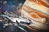 HOOBBI 1000pcs Puzzle Rompecabezas Puzzle Creativo Puzzle Datos interesantes sobre el Universo, los Planetas y los Planetas. Adultos y niños de Ejercicio Cerebral
