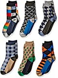 Jefferies Socks Boys' Little Fun Colorful Dress Crew Socks 6 Pair Pack, multi, Medium