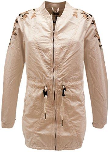 Khujo Damen Jacke Irelia Embroidery Jacket, Weiß (Off 109), Herstellergröße:L