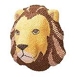 PlayMais Home Cabezas Decorativas de Animales DIY | Cabeza de León para Colgar en la Pared | para niñas y niños de 5 años en adelante - 9.000 Piezas Mosaic | Manualidades para niños